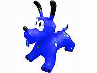Прыгун Собачка надувной резиновый синий, фото 1