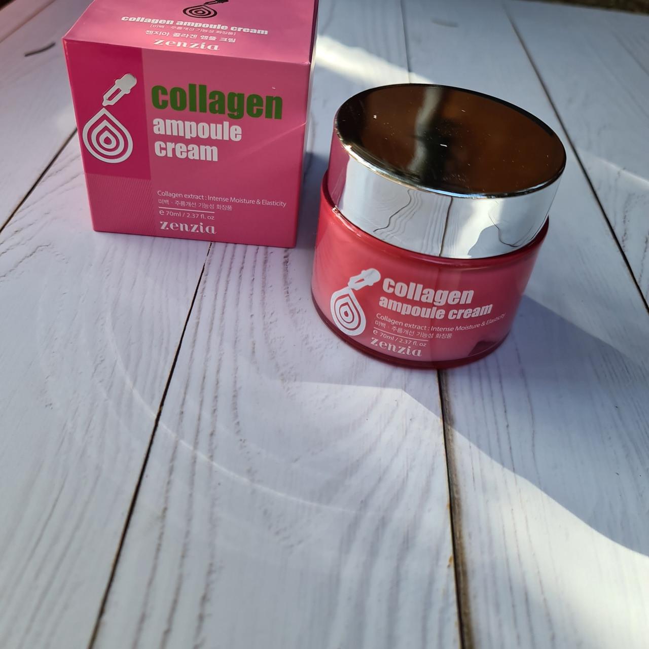 Крем для лица с коллагеном Zenzia Collagen Ampoule Cream