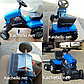 Каталка трактор с педалями «Turbo» с полуприцепом синий, фото 2