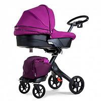 Универсальная коляска Dsland V8 2 в 1 фиолетовая