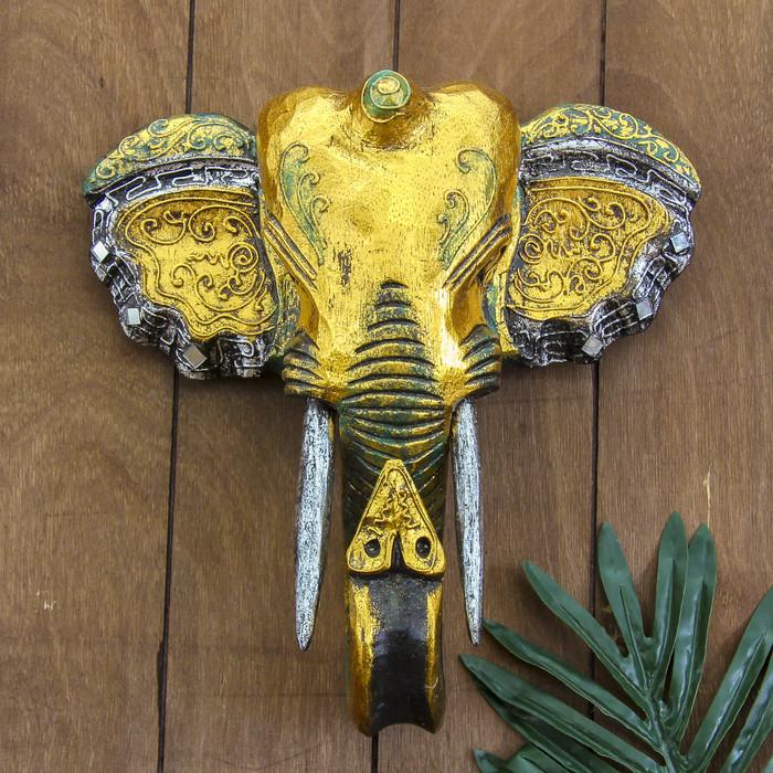 """Панно настенное """"Голова слона"""" 27х12х30 см"""