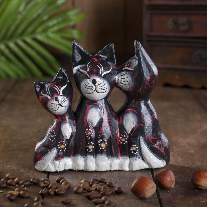 """Сувенир дерево """"Кошки с колокольчиком"""" 4х13х13 см"""