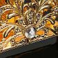 Салфетница «Ажур», 14×3×7 см, с кристаллами Сваровски, фото 3