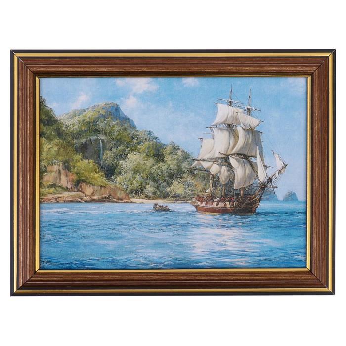 "Картина ""Корабль"" 21х16 см"