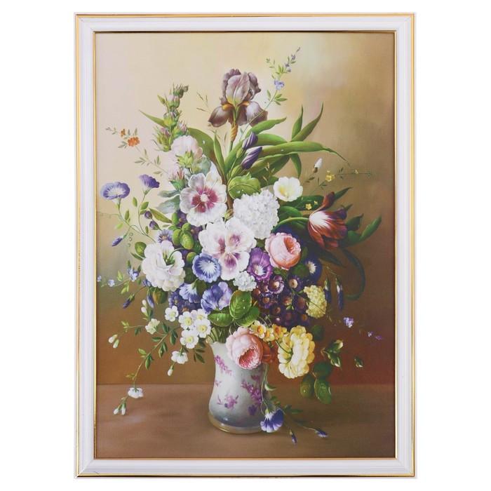 """Картина """"Букет садовых цветов"""" 28х38 см"""
