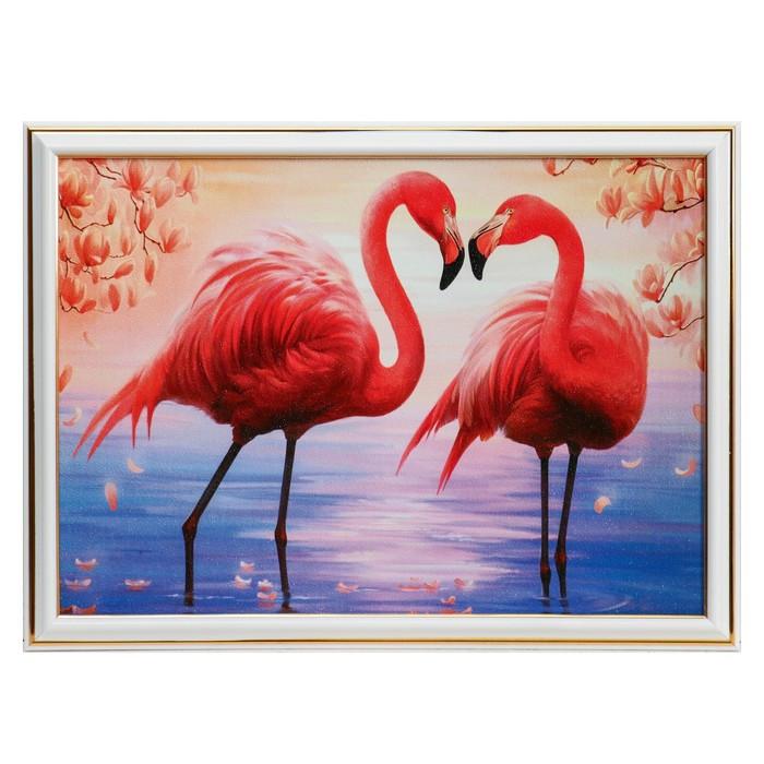 """Картина """"Два фламинго"""" 28х38 см"""