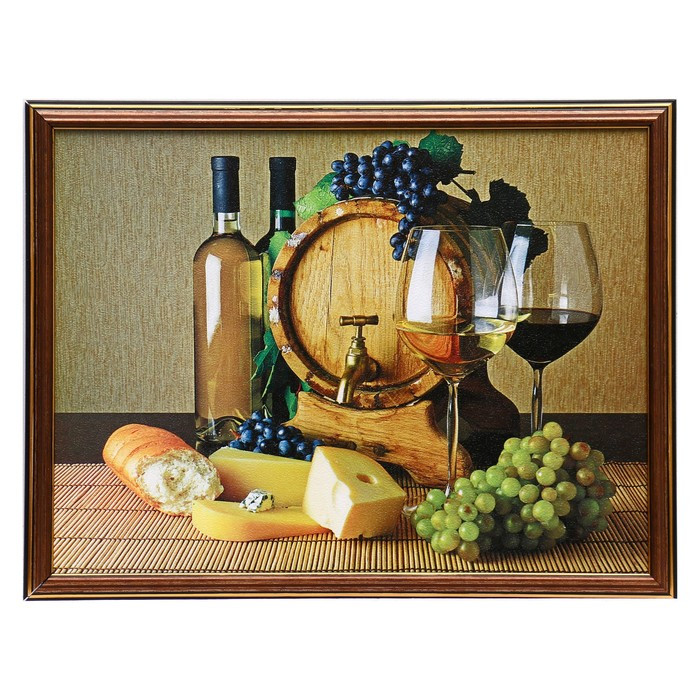"Картина ""Бочонки вина"" 30х40 см (33х43см)"