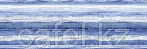 Кафель | Плитка настенная 25х75 Санторини | Santorini голубой вставка