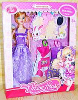 YSN-609 Кукла (качеств.)+2 платья, зеркало и расческа 35*32см