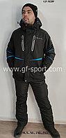 Мужской горнолыжный костюм Columbia (черный с синей полоской)