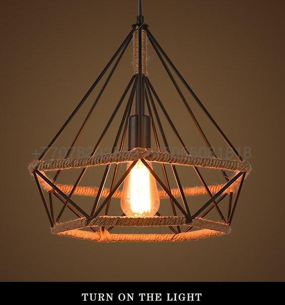 Черный подвесной светильник Retro Lasso Metall