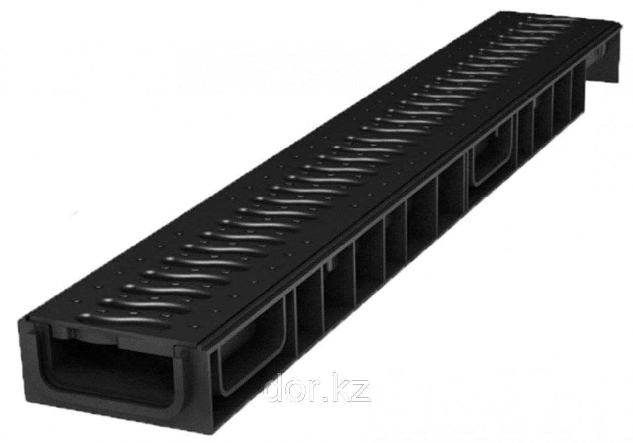 Лоток водоотводный Ecoteck STANDART light 100.65 h69 с решеткой пластиковой, кл.А15
