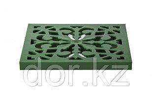 Решётка пластиковая декоративная к дождеприемнику (зеленый папоротник)