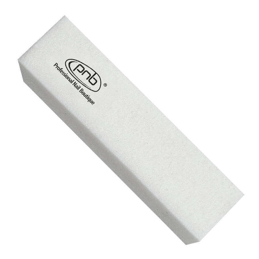 6.Баф-брусок  для ногтей PNB 180/180 White, прямоугольный