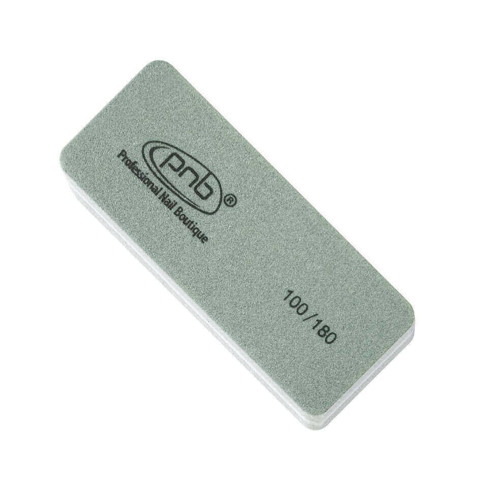 10. Мини-баф для ногтей PNB 100/180 Grey, прямоугольный