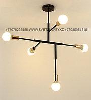 Люстра черный-золотой минимализм в модерне (Black Gold Chandelier Modernism - Modern-Minimalism), фото 1