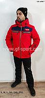 Мужской горнолыжный костюм Running River (красный с синей полоской)