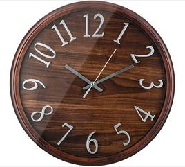 "Часы настенные кварцевые ""tree"" цвет:венге 36*36*4 см.диаметр циферблата"