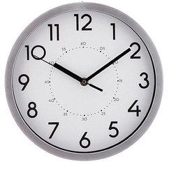 Часы настенные кварцевые lovely home 25,4*25,4*4,2 см цвет: хром,