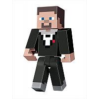 """Minecraft Фигурка Майнкрафт Подземелье """"Стив в костюме смокинге"""", 22 см"""