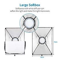 2 х Софтбокс комплекта 50×70 с LED лампой с теплым и холодным светом + сумка, фото 3