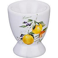 """Подставка под яйцо """"итальянские лимоны"""" 5,6*5,6*6,6 см без упаковки"""