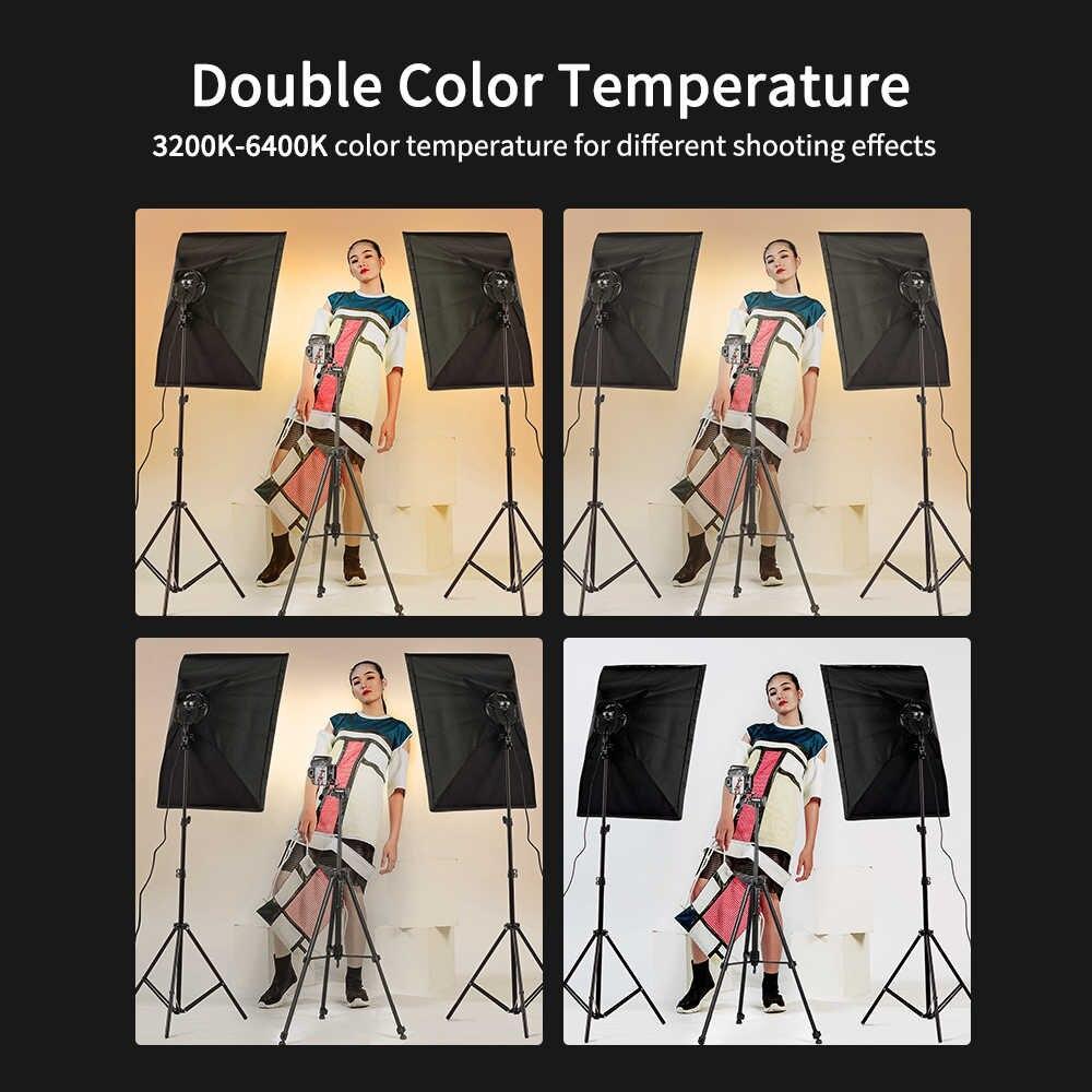 2 х Софтбокс комплекта 50×70 с LED лампой с теплым и холодным светом + сумка - фото 4
