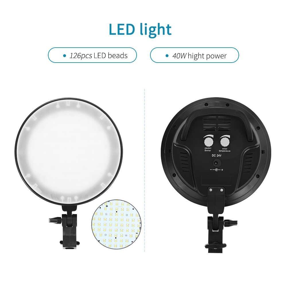 2 х Софтбокс комплекта 50×70 с LED лампой с теплым и холодным светом + сумка - фото 5