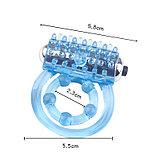 Эрекционное прозрачное кольцо с вибропулей, фото 3