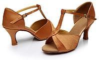 Туфли для бальных танцев (взрослые) Цвет: коричневый. Размеры: 36-40