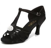 Туфли для бальных танцев (пуговица) взрослые. Цвет: чёрный.