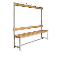 Скамья для раздевалки 150х40х40см с крючками
