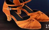 Туфли для бальных танцев закрытые (взрослые). Цвет: коричневый. Размеры: 36-40