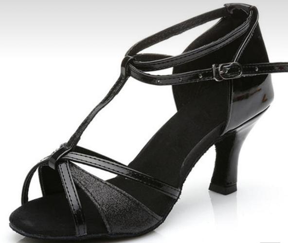 Туфли для бальных танцев (взрослые) чёрные.