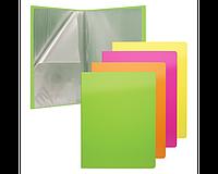 Папка файловая пластиковая Glance Neon, c 20 карманами, A4, ассорти