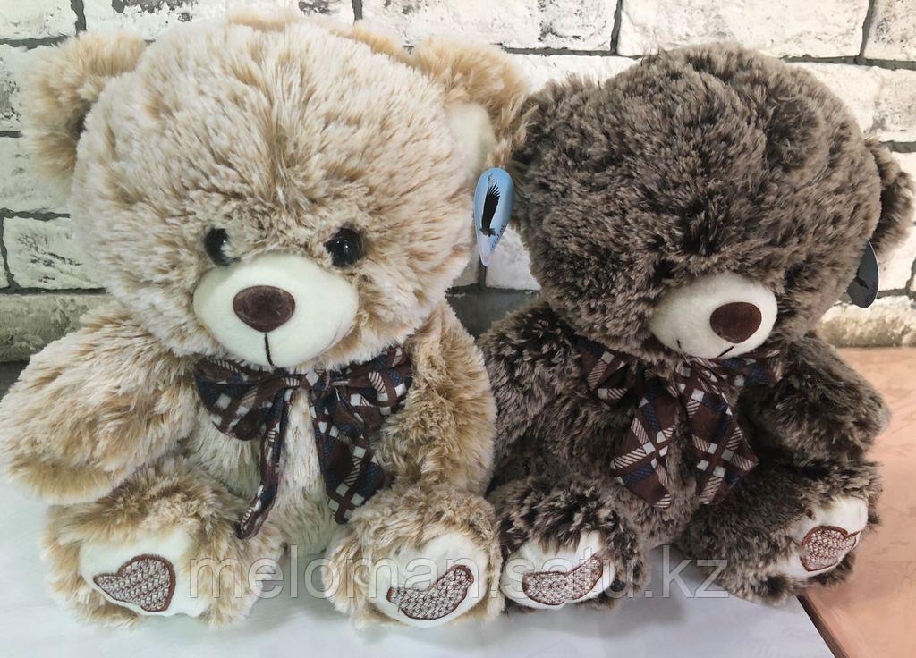 "Plush: Мягкая игрушка ""Медвежонок с бантом"" светло коричн./ черн., 30 см в асс. - фото 3"