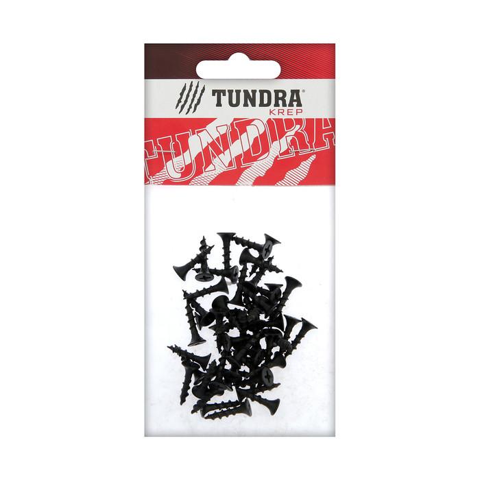 Саморезы по дереву TUNDRA krep, 3.8х19 мм, оксид, крупный шаг, 50 шт.