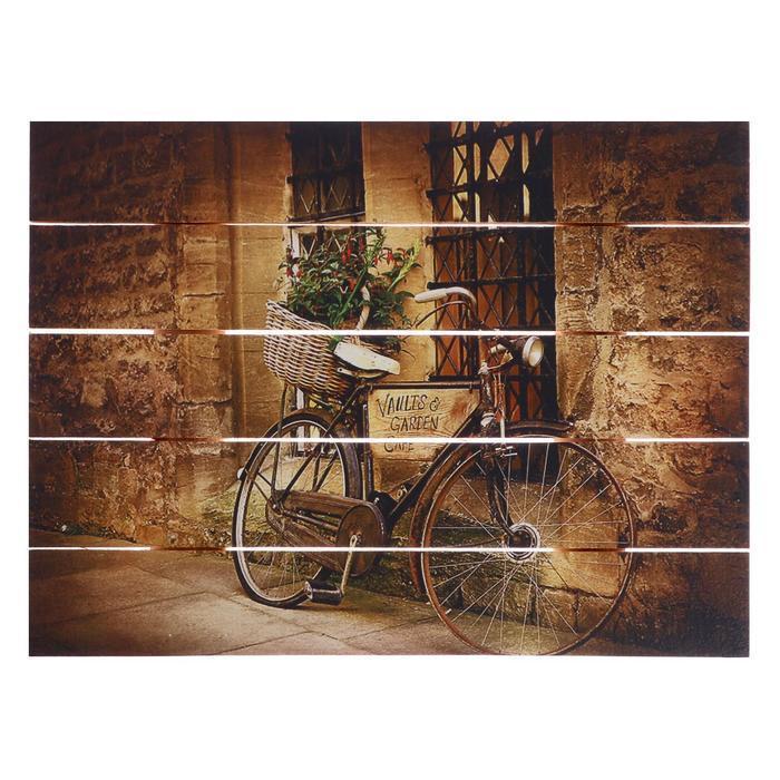 "Картина на дереве ""Старый городок"" 30х40 см"