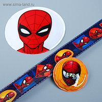 """Браслет и светоотражающие наклейки """"Человек-паук"""", MARVEL"""