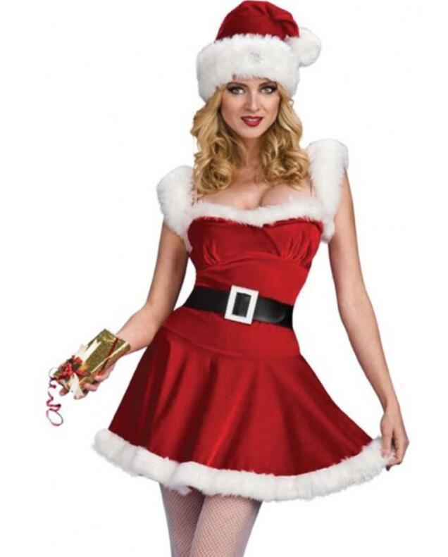 Женский взрослый сексуальный новогодний костюм милашка миссис Клаус - фото 1