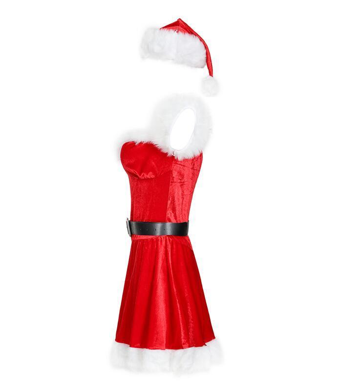 Женский взрослый сексуальный новогодний костюм милашка миссис Клаус - фото 3