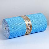 """Коврик для ванной комнаты 0,65х15 м """"Капли"""" цвет голубой, фото 3"""