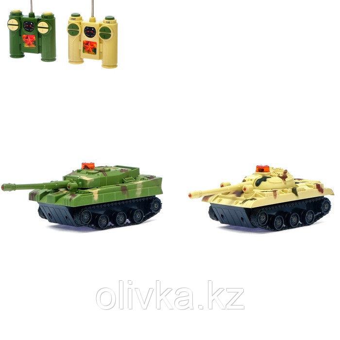 Танковый бой «Великая битва», на радиоуправлении, 2 танка, световые и звуковые эффекты, бонусы