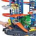 """Hot Wheels Набор """"Город: Невообразимый гараж с Роботом-Тираннозавром"""", Хот Вилс, фото 8"""