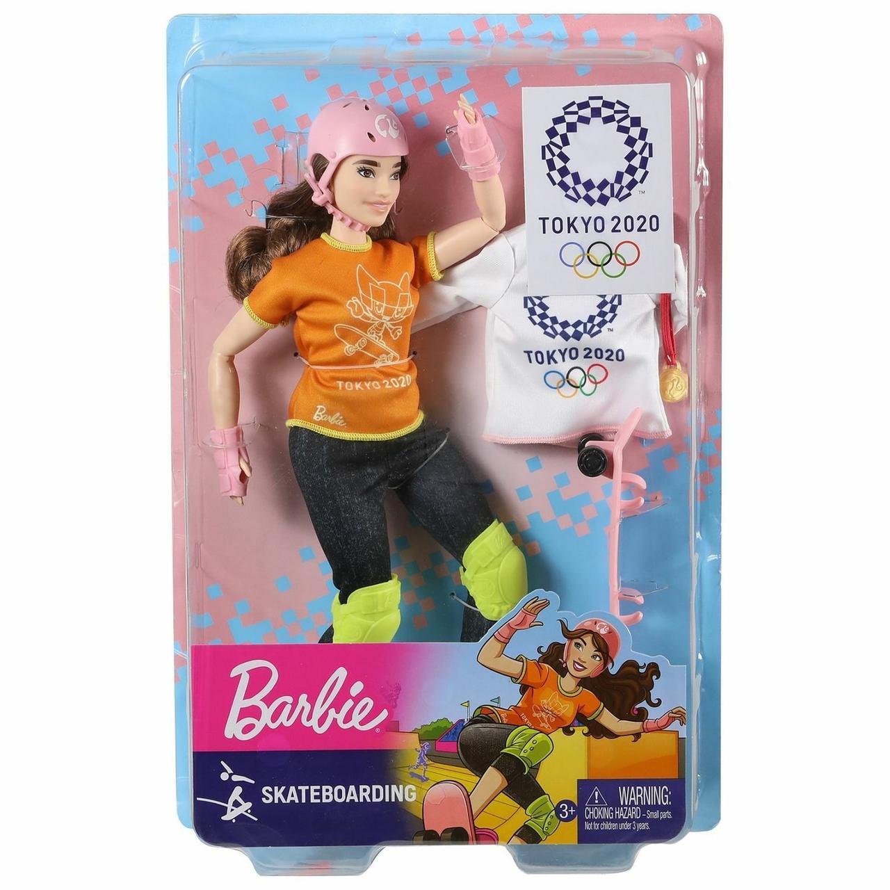 """Barbie Игровой набор """"Олимпийская спортсменка Скейбордистка"""" (пышная)"""