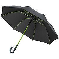 Зонт-трость с цветными спицами Color Style ver.2, зеленое яблоко, с серой ручкой, фото 1