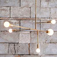 Люстра золотая минимализм в модерне (Gold Chandelier Modernism - Modern-Minimalism), фото 1