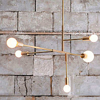 Люстра золотая минимализм в модерне (Gold Chandelier Modernism - Modern-Minimalism)