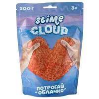 Слайм Slime Cloud-slime , оранжевый, с ароматом персика, 200г, дой-пак