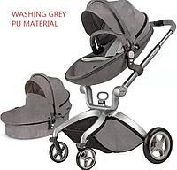 Детская коляска 2в1 Hot Mom F22 Алькантара Washihg grey